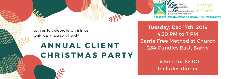 CMHA Client Christmas Party 2019