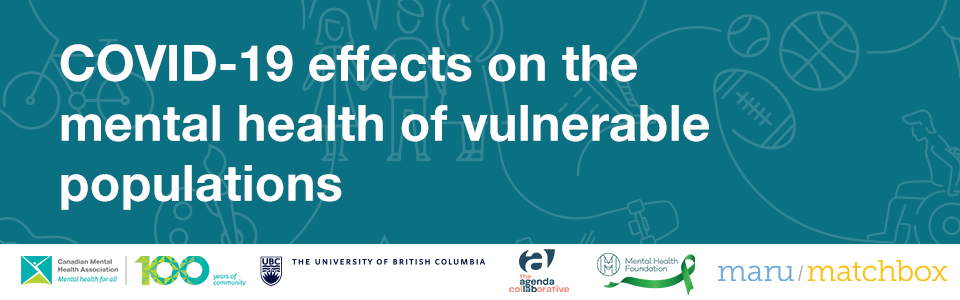 COVID-19 effects on the mental health of vulnerable populations.